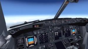 Boeing 737 landing. For training