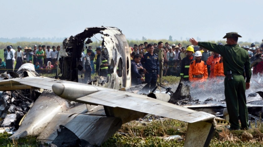 MYANMAR-PLANE-CRASH