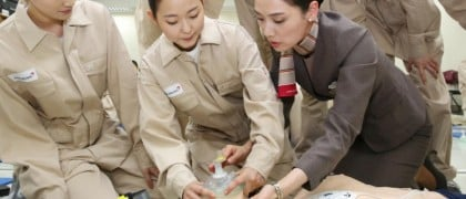 Asiana airlines cabin crew training