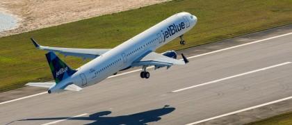 First US built A321 flight