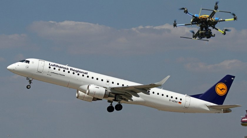 Near Miss For Lufthansa and Drone