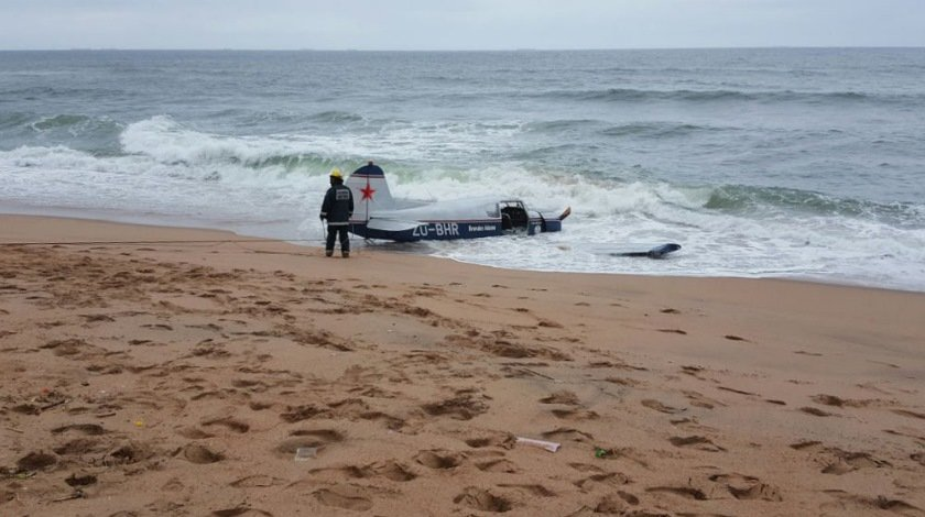 Plane Makes Emergency Landing on Durban Beach
