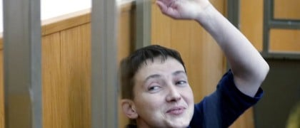 Ukrainian pilot sentenced to priston Nadiya Savchenko