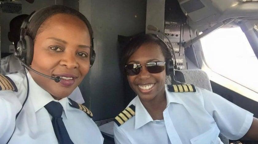 Captain Chipo M. Matimba and Captain Elizabeth Simbi Petros
