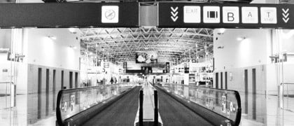 empty brussels airport