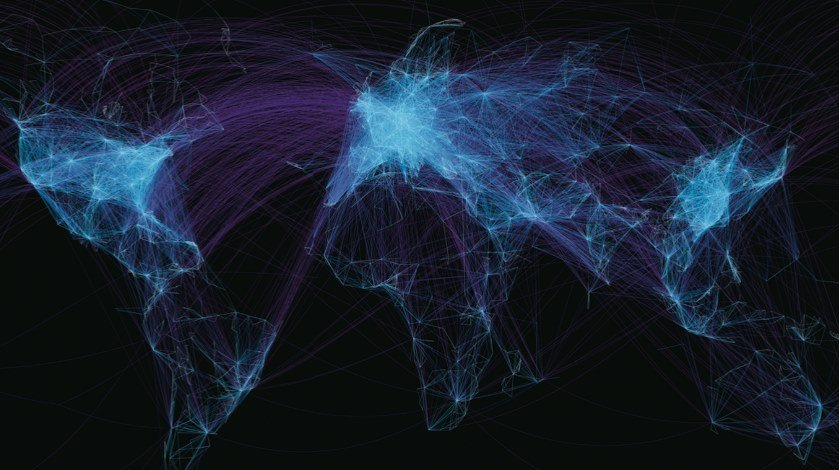 global flight map