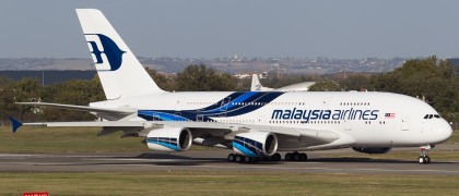 malaisia airlines weights up A350