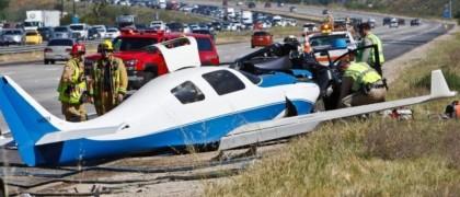 One Dead as Plane Hits Car Near San Diego