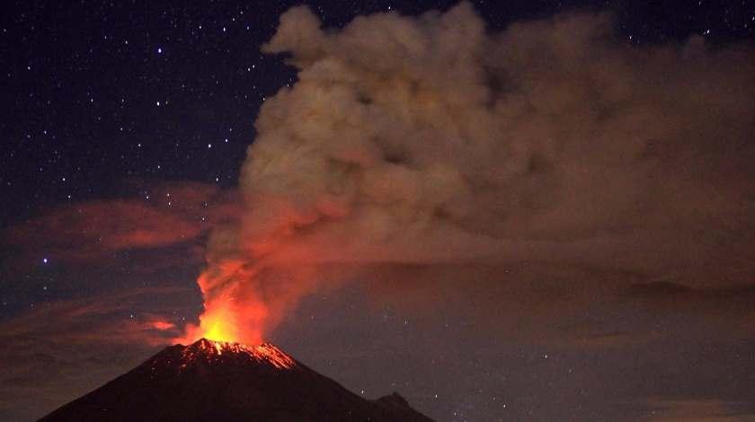 Puebla volcano eruption