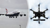 drone collision with jet cdn.images.express.co.uk