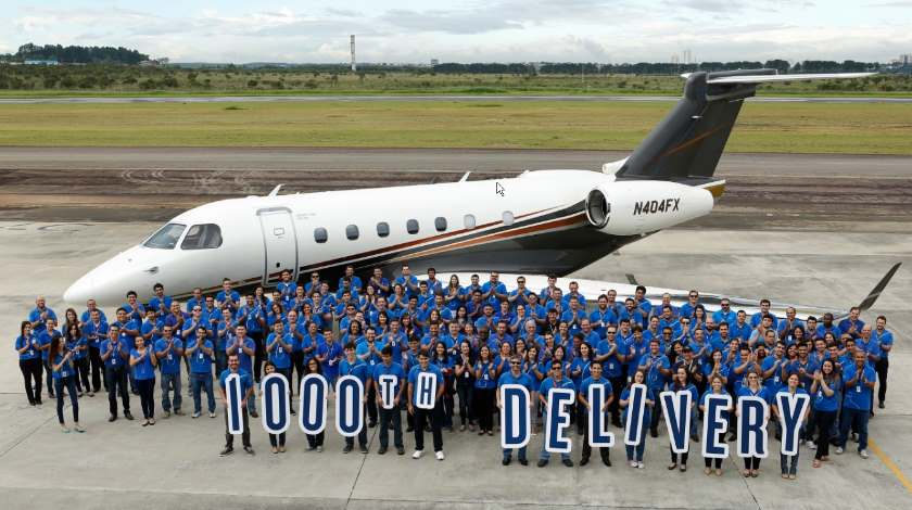 embraer 1000th press release