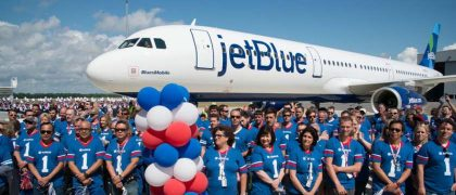 first usa built airbus delivered to jetblue
