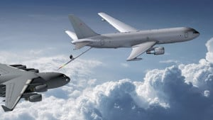 Concept image of the Boeing KC-46 refuelling a C-17 boeing.com