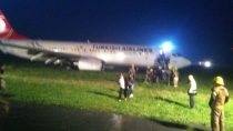 Turkish airlines off runway priscine airport kosovo