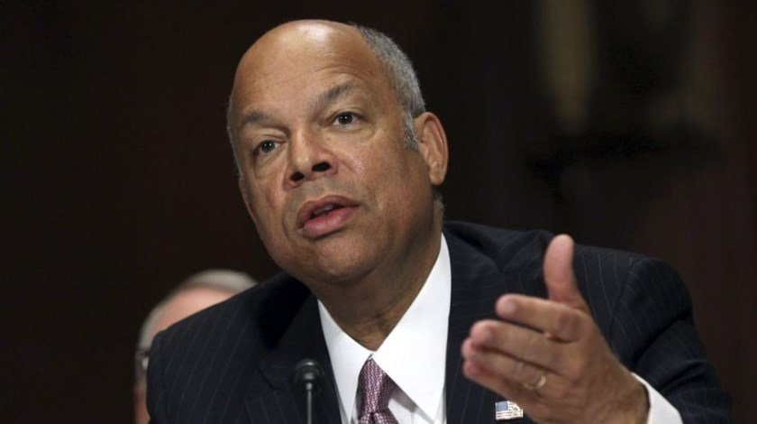 US homeland security chief Jeh Johnson