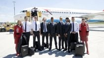 Austrian National Football Team Took Off for France