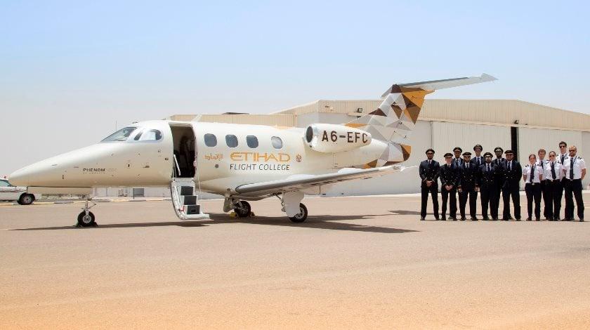 Embraer Phenom 100E at Etihad Flight College