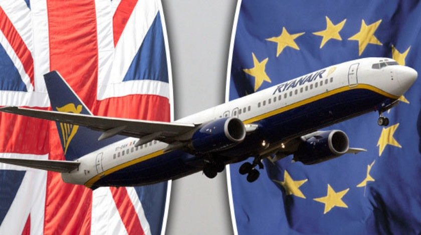 Ryanair Says 'No New Planes for UK' as it Pals Up with EU After Brexit