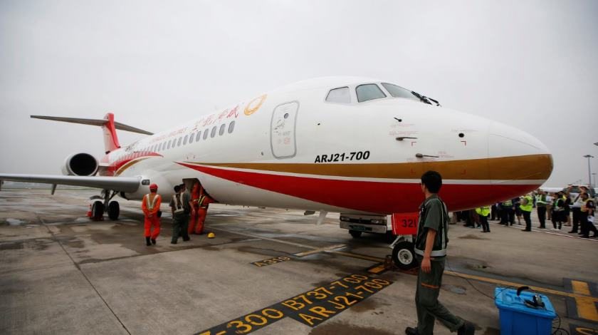 China's first modern jetliner has finally entered airline service