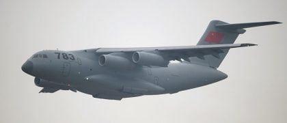 Chinese Large Freighter Plane Enters Military Service
