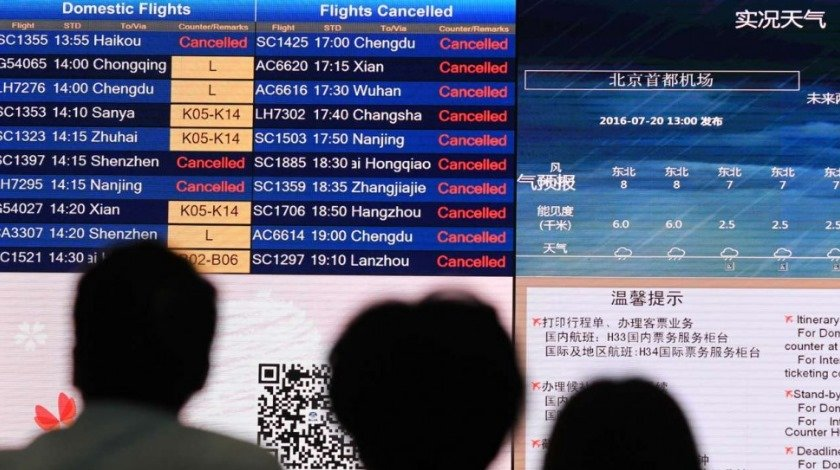 Hundreds of Flights Cancelled as Beijing Lashed by Torrential Rain