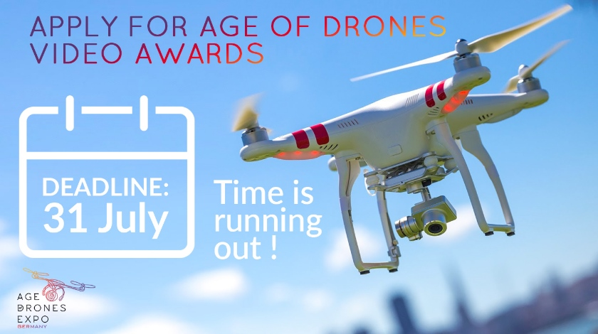 Take a chance to aplly for Age of Drones Video Awards