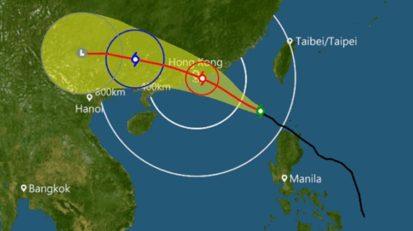 Airlines Suspend Flights Through Hong Kong due to Typhoon Nida