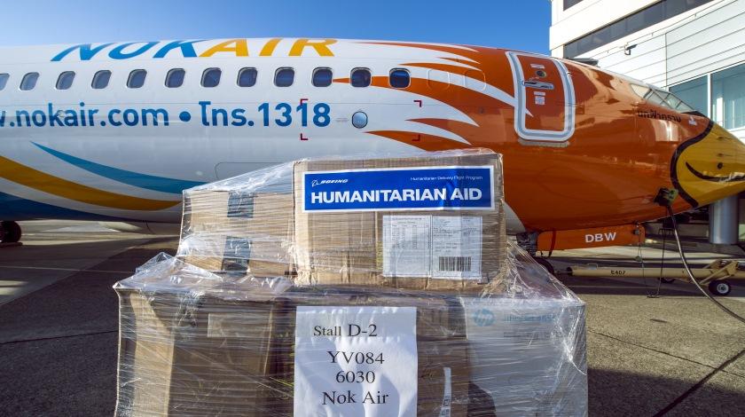 NOK Air 737-800 Humanitarian Relief Delivery