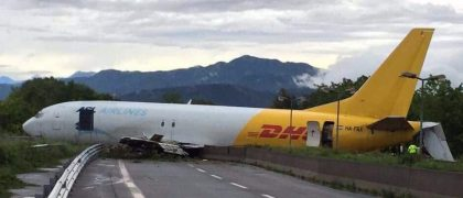 DHL Boeing 737 crashed after overshooting Bergamo airport runway