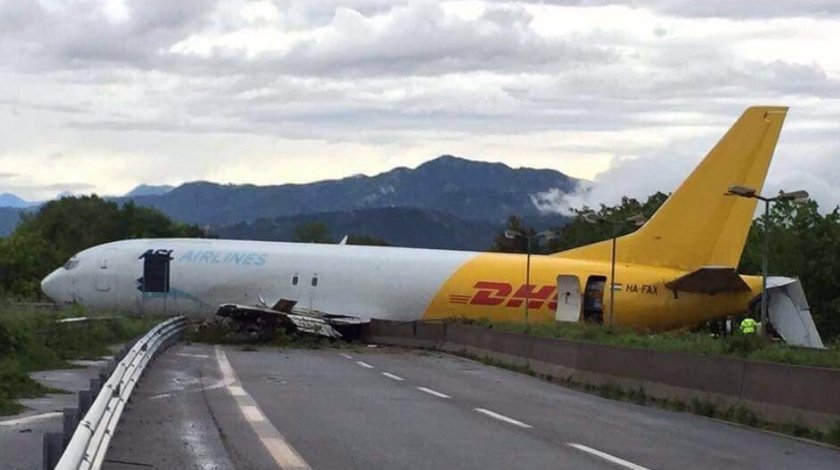DHL Boeing 737 crashed after overshooting Bergamo airport runway