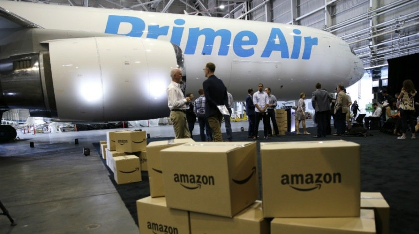 First Amazon 'Prime Air' Flight Lands at Wilmington Airport