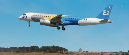 Third Embraer E190-E2 Joins Flight Test Program