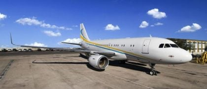 Comlux Becomes First to Retrofit an ACJ319 with Sharklets