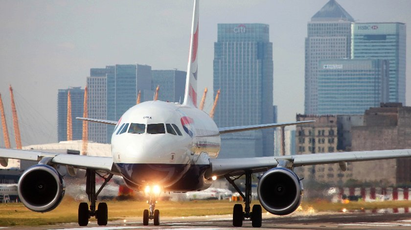 Protesters Take Over Runway at London City Airport