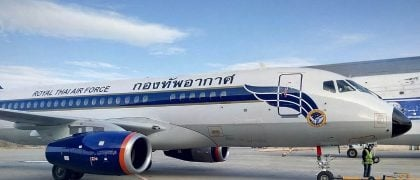 Two Russian Superjet-100 Planes Enter Service with Thai Air Force