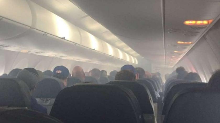 smoke injures 3 cabin crew on thomson b757 flight to spain
