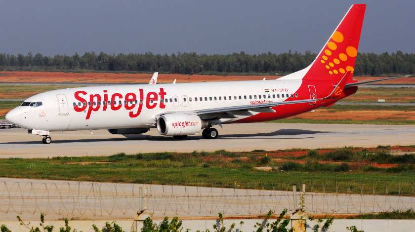 Spicejet Boeing 737 Bursts Tyre on Departure