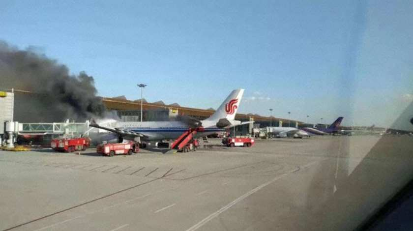 Air China Airbus A330 Damaged During Fire at Beijing Capital