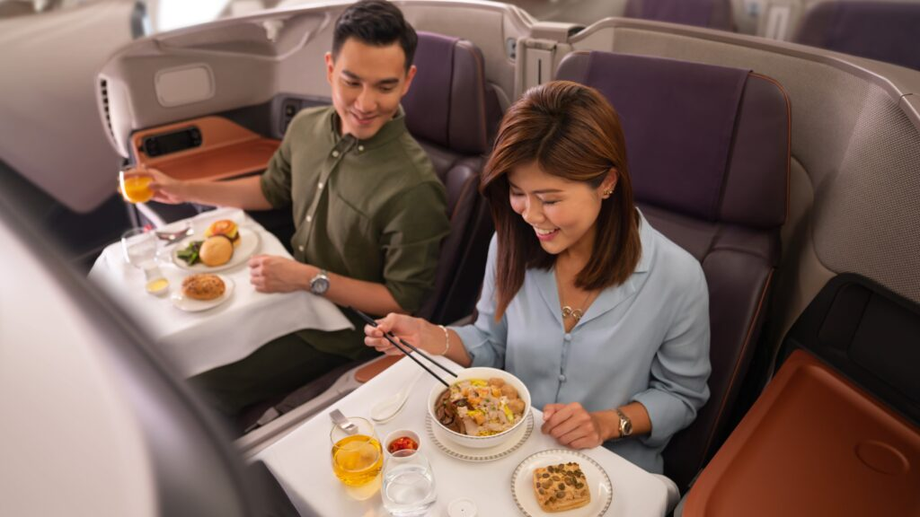 Singapore Airlines' A380 dining experience, Photo: Singapore Airlines
